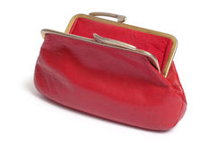 Red purse. Isolated on white Stock Image