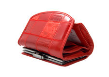 Red purse. Isolated on white background Stock Photography