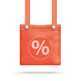 Red Purse Bag Percent Stock Images