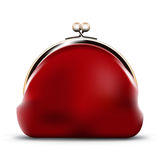 Red purse Royalty Free Stock Photo