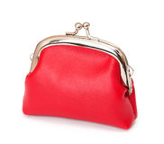 Red purse on white Stock Photography