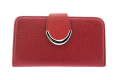 Red purse on a white background Royalty Free Stock Image
