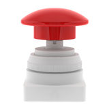 Red push emergency button. Rendered red push emergency button Royalty Free Stock Image