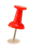 Red Push Pin Royalty Free Stock Images
