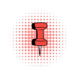 Red push pin comics icon Royalty Free Stock Photography