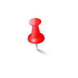 Red push pin Thumbtack  Top view Royalty Free Stock Images