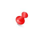 Red push pin Thumbtack  Top view Stock Image