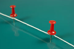 Red push pins Royalty Free Stock Images