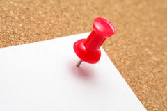 Red pushpin Stock Photo