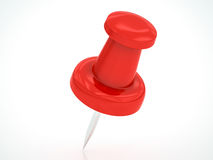 Red pushpin Royalty Free Stock Photos