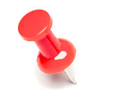 Red Pushpin on White Royalty Free Stock Photo
