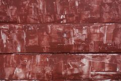 Red putty for wood Stock Photo