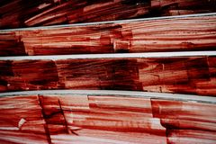 Red putty for wood Royalty Free Stock Photo