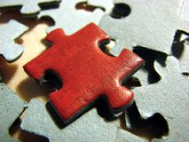 Red puzzle 2 Stock Photos