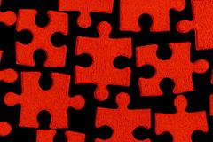Red puzzle. (abstract, texture Royalty Free Stock Photos