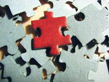 Red puzzle stock photography