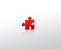 Red puzzle alone Stock Image
