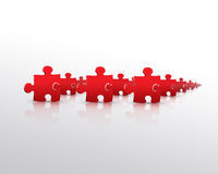 Red puzzle army Stock Photos