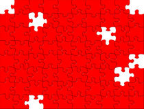 Red Puzzle background Stock Image