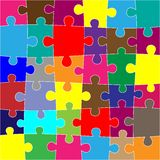 Red puzzle background Stock Photos