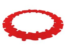 Red puzzle circle Royalty Free Stock Photos