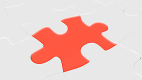 Red puzzle element Stock Photography