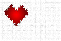 Red puzzle heart Royalty Free Stock Image
