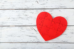 Free Red Puzzle Heart Royalty Free Stock Images - 53755839