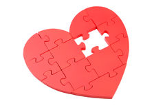 Free Red Puzzle Heart Royalty Free Stock Photo - 54363225