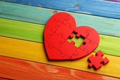Free Red Puzzle Heart Stock Photo - 63318600