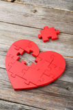 Red puzzle heart Stock Image