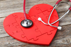 Red puzzle heart Royalty Free Stock Images