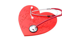 Red puzzle heart Stock Photo