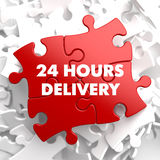 Red Puzzle - 24 hours Delivery. Stock Photography