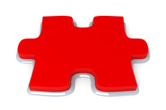Red puzzle piece Royalty Free Stock Image
