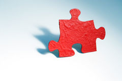 Red puzzle piece Stock Photography