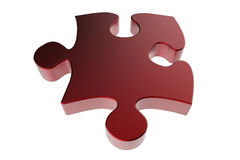 Red puzzle piece Royalty Free Stock Photo