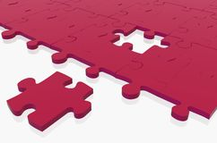 Red puzzle piece missing Royalty Free Stock Images