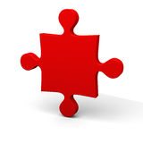 Red puzzle piece Royalty Free Stock Images