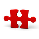 Red puzzle piece Royalty Free Stock Photography