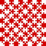 Red Puzzle Pieces - JigSaw Vector - Field Chess. Red Puzzle Pieces in a White Square - JigSaw - Vector Illustration. Vector Background. Field for Chess Royalty Free Stock Photo