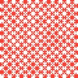 Red Puzzle Pieces JigSaw - Vector - Field Chess. Red Puzzle Pieces in a White Square - JigSaw - Vector Illustration. Vector Background. Field for Chess Royalty Free Stock Photos