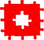 Red Puzzle Vector Royalty Free Stock Image