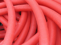 Red PVC pipes Royalty Free Stock Photos
