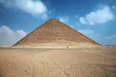 Red pyramid stock photography
