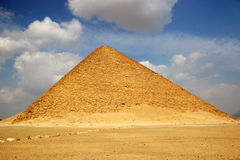 The Red Pyramid of Dahshur in Egypt. Famous, landmark royalty free stock photo