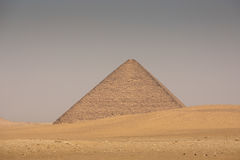 The Red pyramid of Dahshur in Giza, Egypt stock images