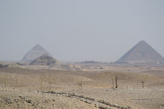 Red Pyramid. Panoramics of the red pyramids Royalty Free Stock Images