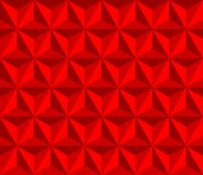 Red pyramid. vector seamless pattern with triangles. 3d geometric background. visual illusion Stock Photography