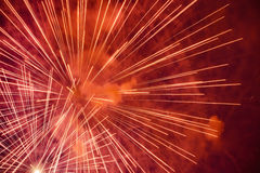 Red Pyrotechnic background Stock Photos